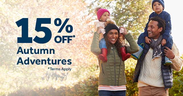 Autumn breaks with 15% off*