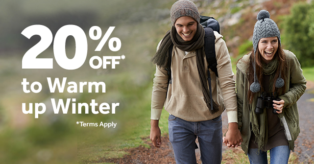 Winter Escapes with 20% off*