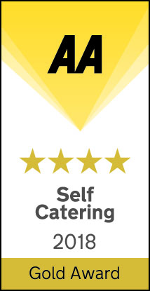 AA Self Catering 4 Gold Stars - 2018 - Gold Award